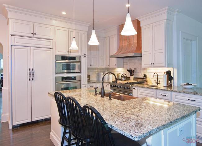 Interior Photography:  white kitchen