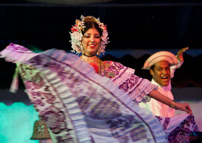 Couple Performs a Panamanian Dance at La Concepción, Panama