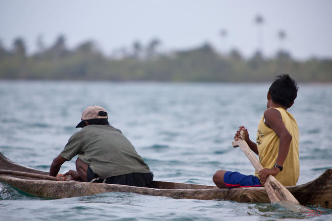 Dugout Canoe in the San Blas Islands
