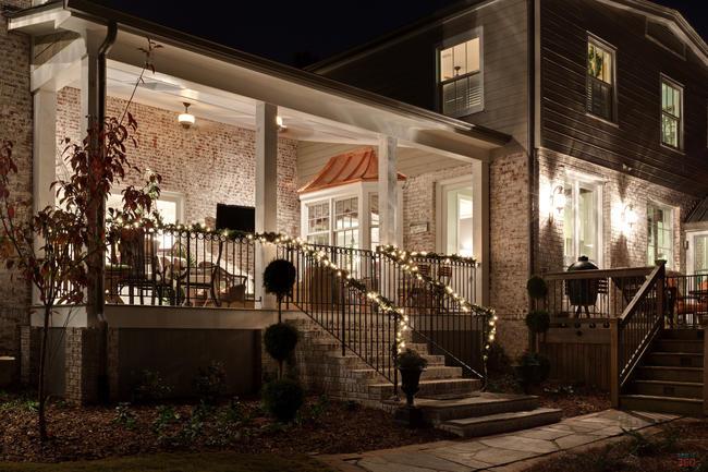 Blake Shaw Homes, Night Shot, Back Exterior 1