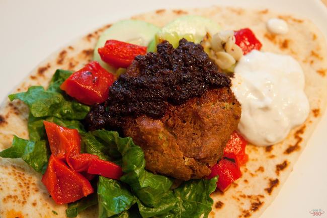 Falafel on Naan