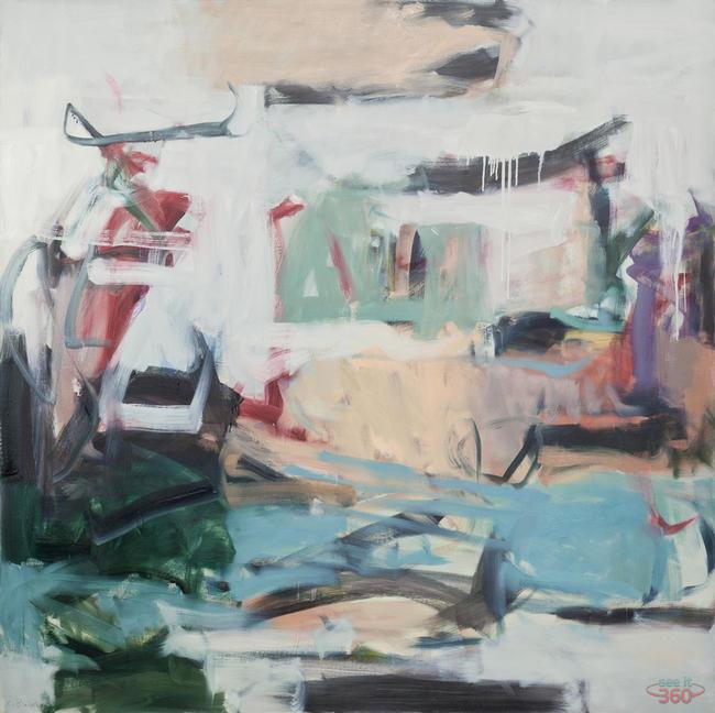 Clara Blalock Abstract Oil On Canvas - Image 2
