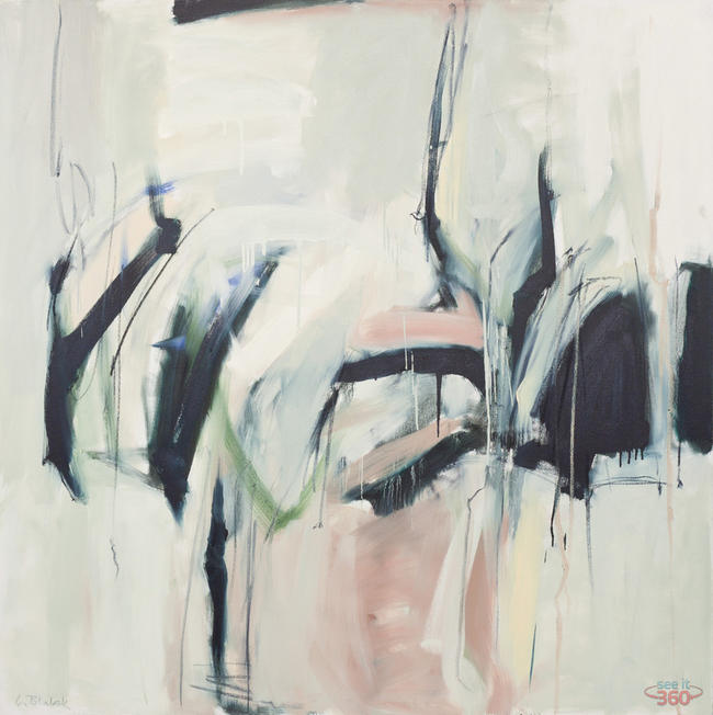 Clara Blalock Abstract Oil On Canvas - Image 4