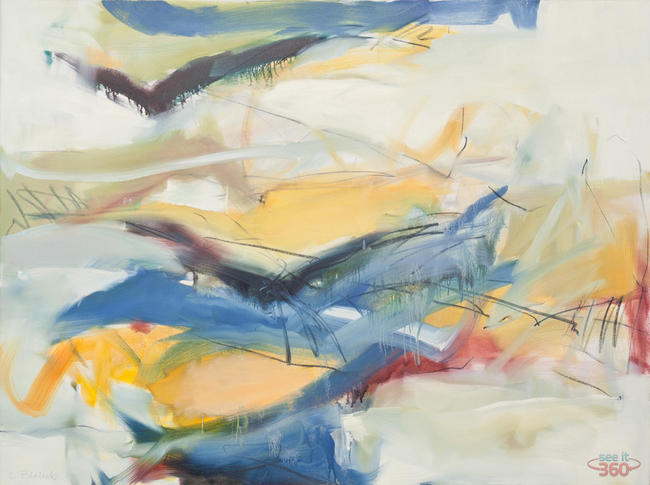 Clara Blalock Abstract Oil On Canvas - Image 6