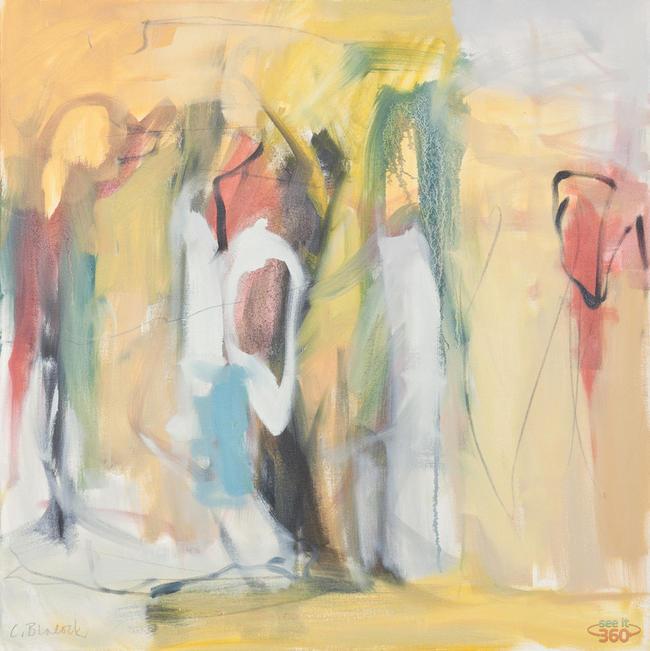 Clara Blalock Abstract Oil On Canvas - Image 7