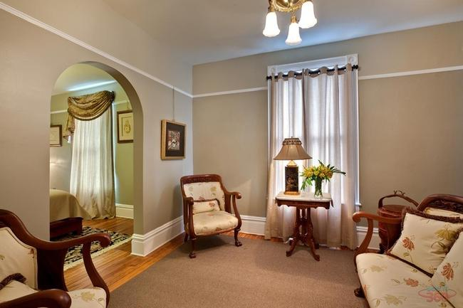 Seating area at the Olivia Rose suite -  Noble Manor Bed & Breakfast