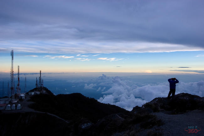 At the top of Volcan Baru