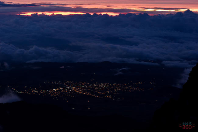 The town of Volcan, Panama at Night