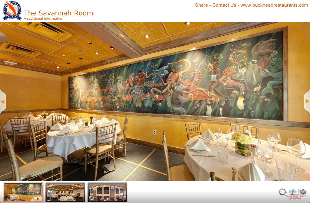 Virtual tours for event venues and restaurants for The fish market atlanta