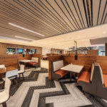Bank of America Plaza Virtual Tour: Marketplace 600 Seating Area