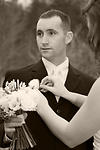 Wedding Photography:  black & white groom portrait