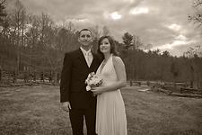 Wedding Photography:  Bride and Groom, black & white portrait