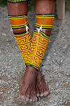 Kuna woman's beaded leg bands
