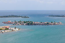 San Blas village from the sky