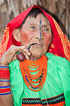 Kuna woman with her pipe
