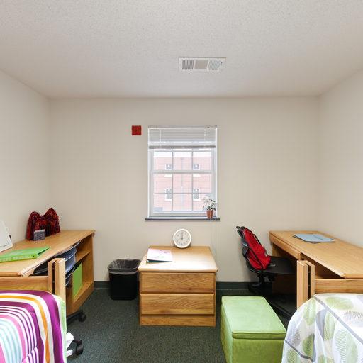university suites double resident room